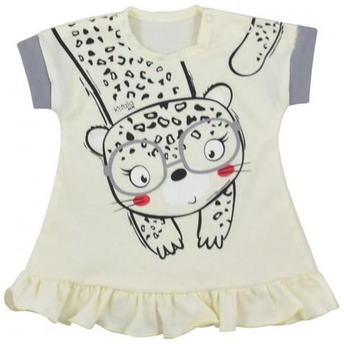 Kojenecké letní šaty Koala Sara béžové Béžová 74 (6-9m)