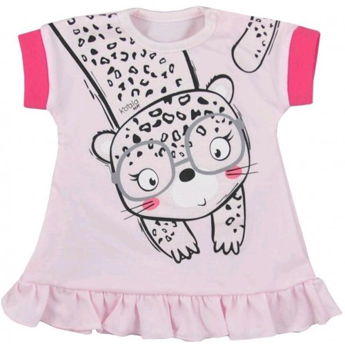 Kojenecké letní šaty Koala Sara růžové Růžová 74 (6-9m)