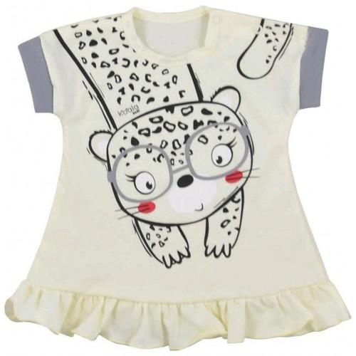 Kojenecké letní šaty Koala Sara béžové Béžová 80 (9-12m)