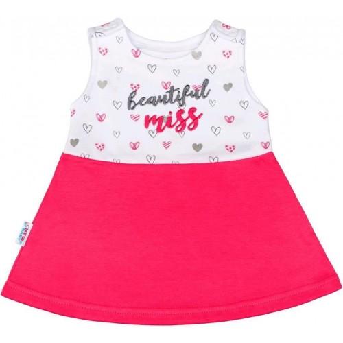 Kojenecké šaty bez rukávů New Baby růžové Růžová 68 (4-6m)