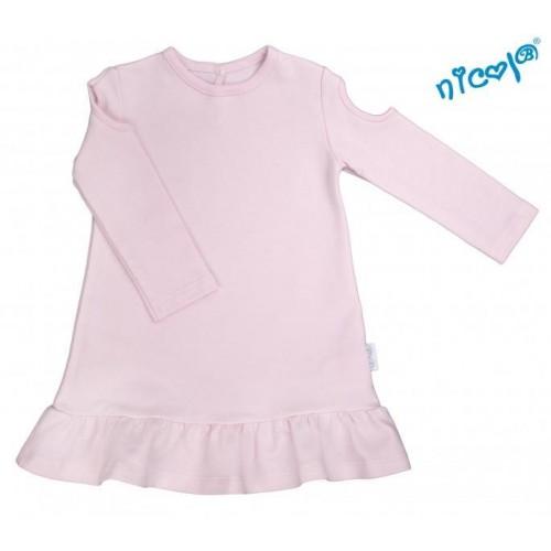 Kojenecké šaty Nicol, Paula - růžové, vel. 68, 68 (4-6m)