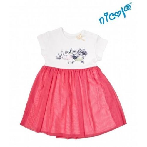 Dětské šaty Nicol, Mořská víla - červeno/bílé, vel. 128, 128 (7-8r)