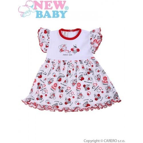 Kojenecké šaty New Baby Beruška Bílá 74 (6-9m)