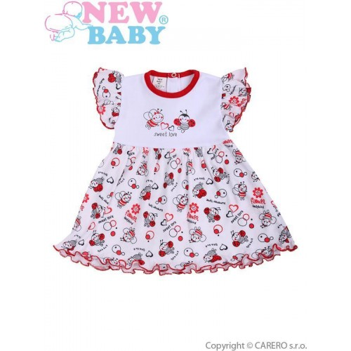 Kojenecké šaty New Baby Beruška Bílá 86 (12-18m)