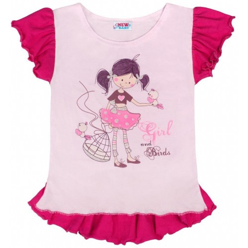 Dětská letní tunika New Baby Girl růžová Růžová 140 (9-10 let)