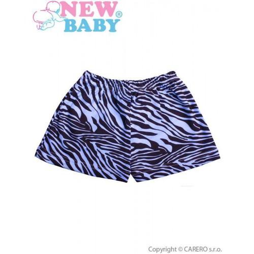Dětské kraťasy New Baby Zebra modré Modrá 80 (9-12m)