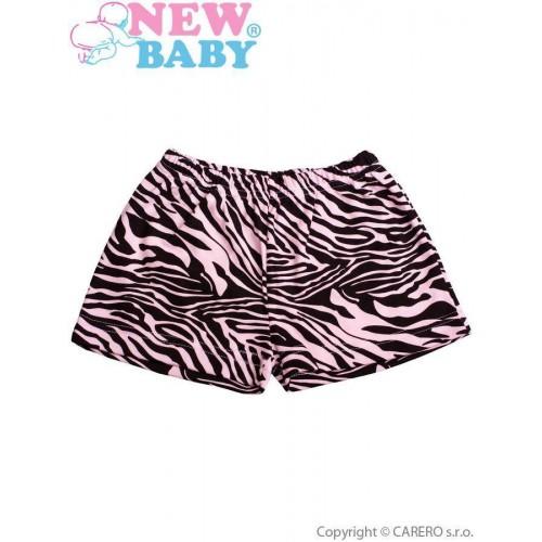 Dětské kraťasy New Baby Zebra růžové Růžová 98 (2-3r)