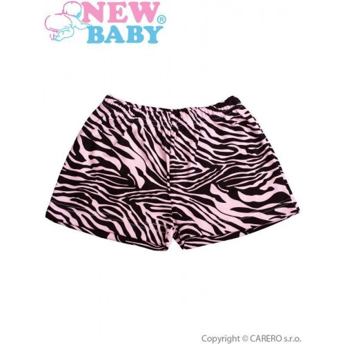 Dětské kraťasy New Baby Zebra růžové Růžová 128 (7-8 let)