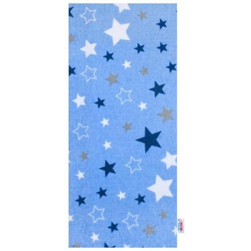 Flanelová plena s potiskem New Baby modrá hvězdy