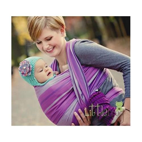 Little FROG Tkaný šátek na nošení dětí - AMETYST, XL (42)