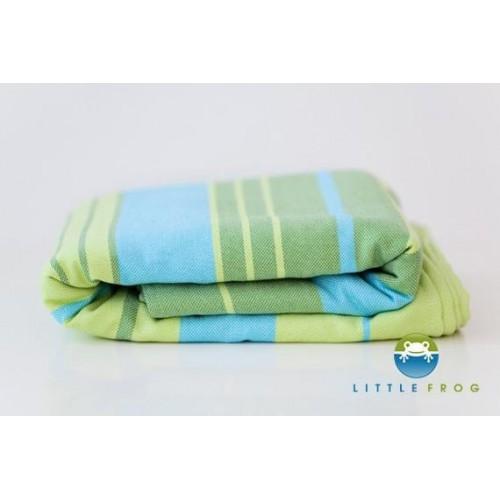 Little FROG Tkaný šátek na nošení dětí s bambusem - Bamboo Turquoise, XXL (44)