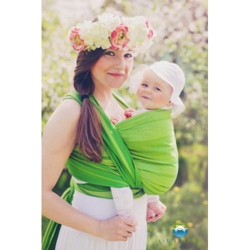 Little FROG Tkaný šátek na nošení dětí - BERYL, XL (42)