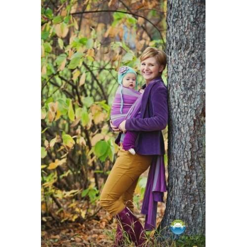 Little FROG Tkaný šátek na nošení dětí - AMETHYST, XL (42)