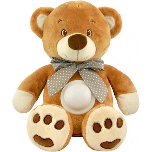 Plyšový usínáček medvídek s projektorem Baby Mix hnědý