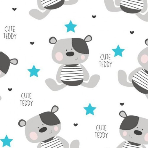 Nepromokavá flanelová podložka New Baby Cute Teddy