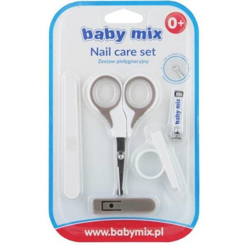 Dětská manikúra Baby Mix šedá