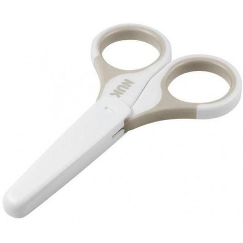 Dětské zdravotní nůžky s krytem Nuk béžové