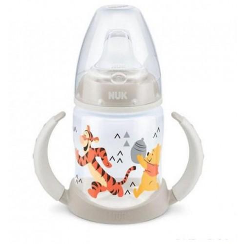 Kojenecká láhev na učení NUK 150 ml Disney Medvídek Pu-Tiger béžová