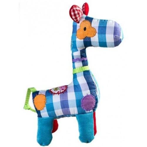 BabyOno Hračka s chrastítkem Žirafka KÁRO