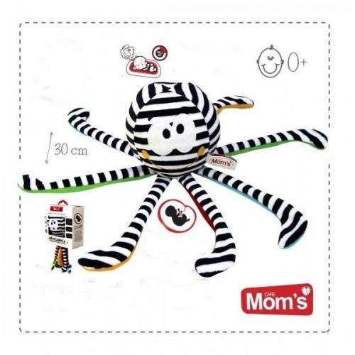 Hencz Toys Edukační hračka s tlukotem srdce Hencz CHOBOTNIČKA - bíločerná