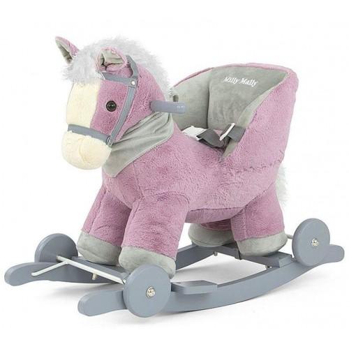 Houpací koník Milly Mally Polly fialový