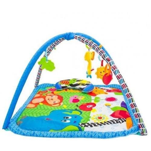 Hrací deka, podložka s melodií  Safari -  modrá