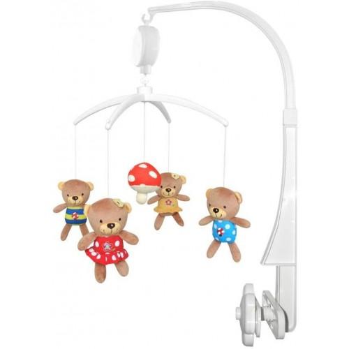 Kolotoč nad postýlku Baby Mix Medvídci s muchomůrkou