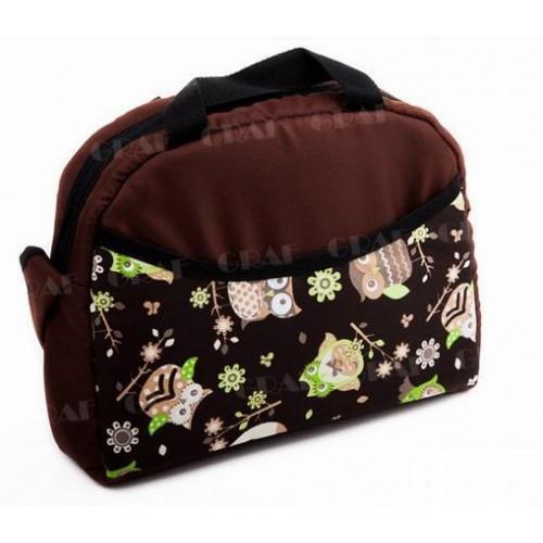 Baby Joy taška na kočárek, tm.hnědá/sova