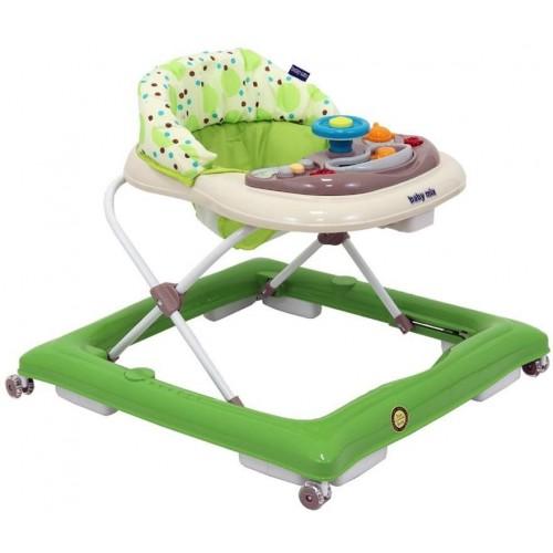 Dětské chodítko Baby Mix green-beige