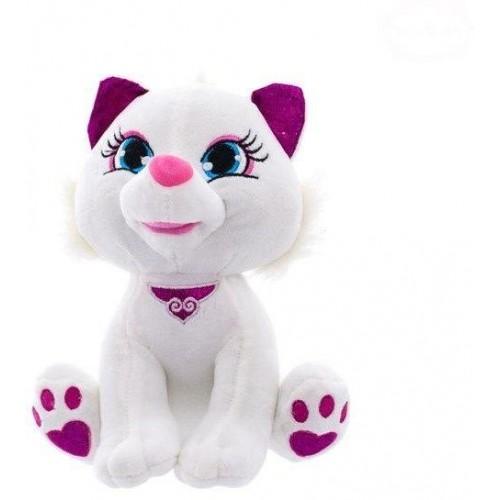 Euro Baby Plyšová kočička  24cm - bílá, Ce19