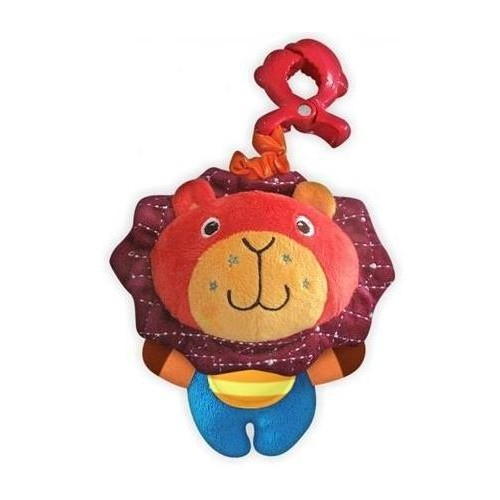 Plyšová hračka BABY MIX s chrastítkem a kousátkem - Lev