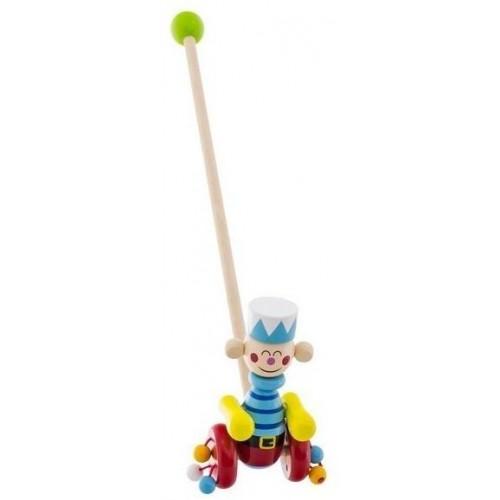 Dřevěná jezdící hračka Euro Baby - voják