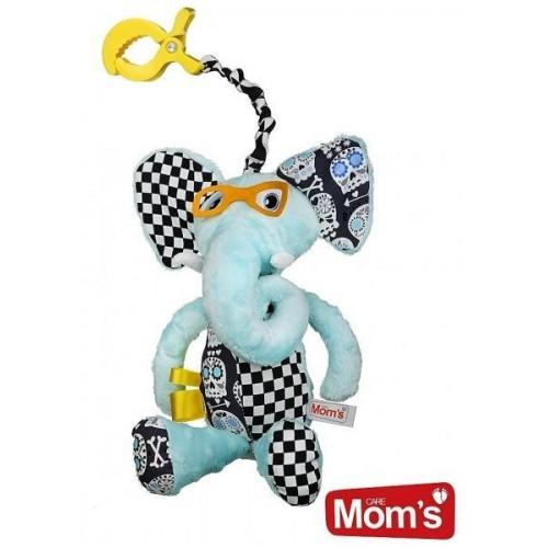 Hencz Toys Edukační hračka Hencz s pískátkem SLONÍK - modrý