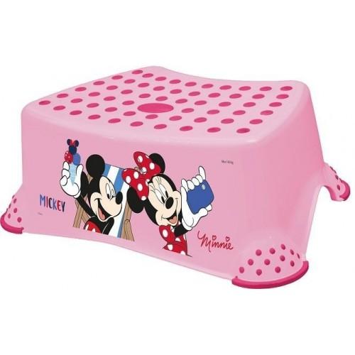 Keeeper Stolička, schůdek s protiskluzovou funkcí - Minnie - růžová