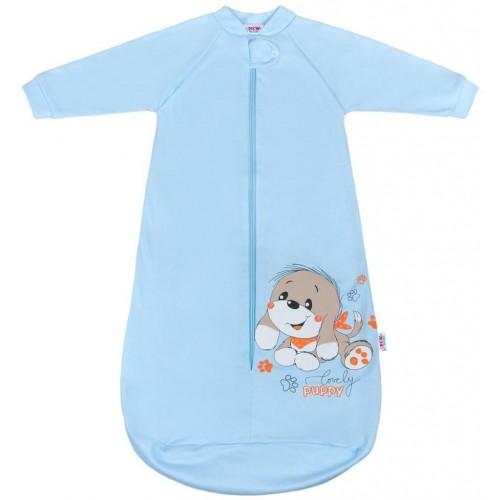 Kojenecký spací pytel New Baby pejsek modrý Modrá 68 (4-6m)