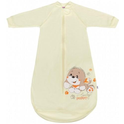 Kojenecký spací pytel New Baby pejsek béžový Béžová 80 (9-12m)