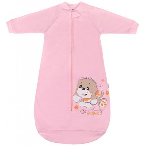 Kojenecký spací pytel New Baby pejsek růžový Růžová 92 (18-24m)