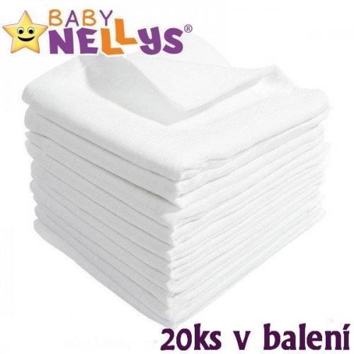 Kvalitní bavlněné pleny Baby Nellys - TETRA LUX 80x80cm, 20ks v bal.,K19