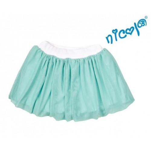 Dětská sukně Nicol,Mořská víla  - zelená vel. 98, 98 (24-36m)