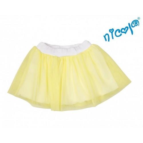 Dětská sukně Nicol, Mořská víla  - žlutá, vel. 128, 128