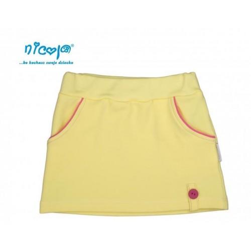 Nicol Kojenecká sukně Lady - žlutá, 56 (1-2m)
