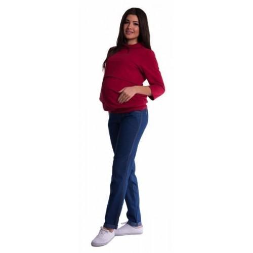 Be MaaMaa Těhotenské kalhoty - tmavý jeans, vel. XXL, XXL (44)