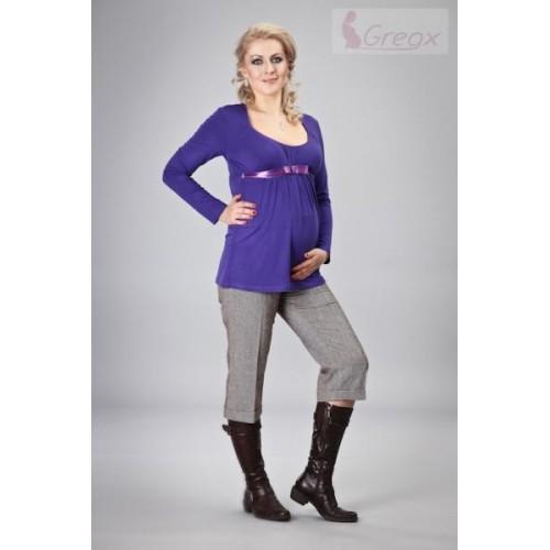 Gregx Elegantní 3/4 kalhoty BARO - hnědý melír, S (36)