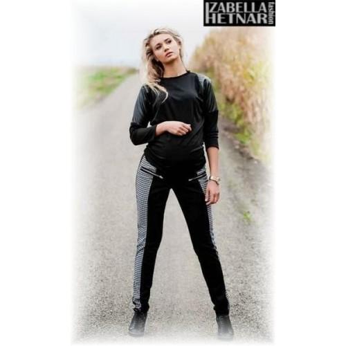 Be MaaMaa Těhotenské kalhoty XENIE  - šedé/grafit, M (38)