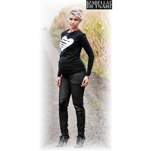 Be MaaMaa Těhotenské kalhoty/jeans NANA  - černý jeans, M (38)
