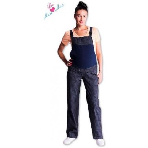 Be MaaMaa Těhotenské kalhoty s láclem - granátový melírek, M (38)