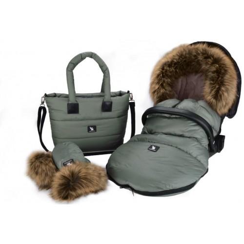 Sada fusak Cottonmoose Moose, taška Moose a rukavice, Green