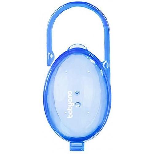 Pouzdro na dudlík Baby Ono modré-průsvitné
