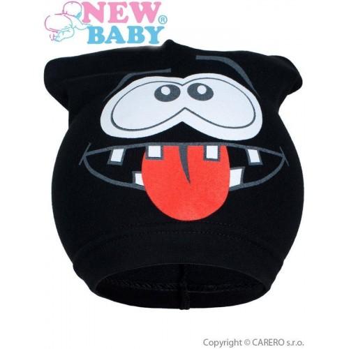 Jarní dětská čepička New Baby smíšek černá Černá 104 (3-4r)