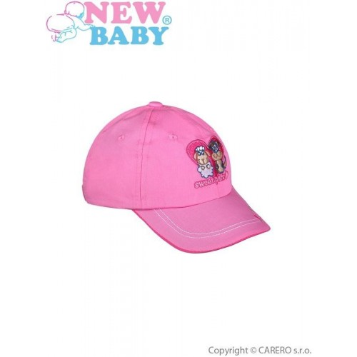 Letní dětská kšiltovka New Baby Sweet Pets tmavě růžová Růžová 98 (2-3r)